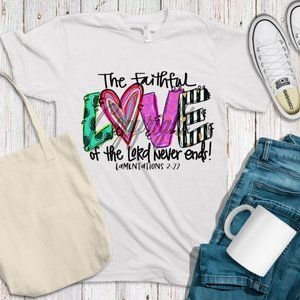 love of the lord never ends shirt